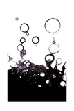 Gas Bubbles In Oil Giclee Print by  Crown