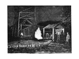 Natural Gas Well, 19th Century Giclee Print by Science Photo Library