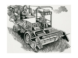 Industrial Farming Giclee Print by Bill Sanderson