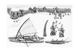 Tasman's Visit To Fiji, 1643 Giclee Print by CCI Archives
