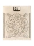 Dendera Zodiac From the Temple of Hathor Giclée-tryk