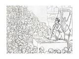 1850 Richard Owen Zoologist Lecturing Giclee Print by Stewart Stewart
