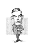 Alan Turing, British Mathematician Giclee Print by Gary Gastrolab