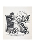 1836 Caricature of Abesent Minded Prof. Giclee Print by Stewart Stewart