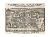 Map of Moscow, 16th Century Giclee Print by Middle Temple Library