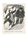 1836 Darwin Sea Sick In Pacific Ocean Giclee Print by Stewart Stewart