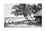 Coconut Rope Production, 19th Century Giclee Print by Science Photo Library
