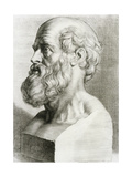 Engraving of Bust of Hippocrates Giclee Print by National Library of Medicine