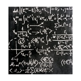 Particle Physics Equations Giclee Print by Ria Novosti