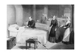 Florence Nightingale In a Military Hospital Giclee Print by National Library of Medicine