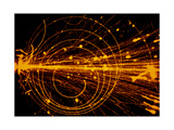 Streamer Chamber Photo of Oxygen Ion Collision Giclee Print by  Cern