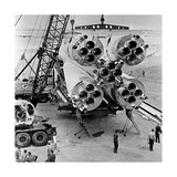 Vostok Spacecraft Launch Vehicle Giclee Print by Ria Novosti