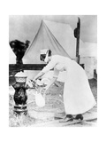 Nurse Collecting Water, USA, 1918 Giclee Print