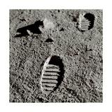 Astronaut Footprints on the Moon Giclee Print by Detlev Van Ravenswaay