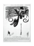 1868 Punch Cartoon of Mammoth Nightmare Giclee Print by Stewart Stewart