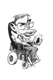 Stephen Hawking, British Physicist Giclee Print by Gary Gastrolab