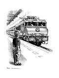 Child Train Safety, Artwork Giclee Print by Bill Sanderson