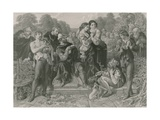 Orlando and the Wrestler, as You Like it Giclee Print by Daniel Maclise