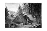 Charcoal Production, 19th Century Giclee Print by Science Photo Library