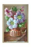 Lilies in Vase, New Year Card Giclee Print