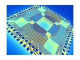 Microprocessor Chip, Computer Artwork Giclee Print by  PASIEKA
