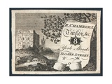 R Chambers, Tailor, Trade Card Giclee Print