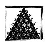 Petrus Apianus's Pascal's Triangle, 1527 Giclee Print by Jeremy Burgess