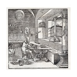 Saint Jerome, 16th-century Bible Giclee Print by King's College