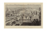 A Bird's Eye View of Paris from the Roof of St Gervais Giclee Print