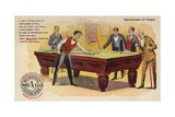 Gentlemen of Taste, Playing Pool Giclee Print