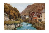 The Lyn Valley, Lynmouth Giclee Print by Alfred Robert Quinton