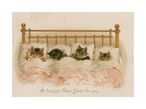 Cats Sleeping Giclee Print