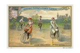 Jeux Cyclistes, Cycling around Skittles in France Giclee Print