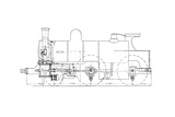 Three-cylinder Compound Steam Locomotive Giclee Print by Mark Sykes
