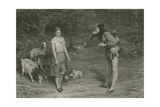 Touchstone and Audrey, as You Like it Giclee Print by John Pettie