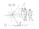 Pictorial Plaque on Pioneer 10 And 11 Giclee Print by  NASA