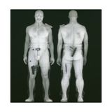 X-ray Views of Man During BodySearch Surveillance Giclee Print