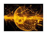 Streamer Chamber Photo of Particle Tracks Giclee Print by  Cern