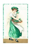 St Patrick's Day Card Giclee Print by Ellen Hattie Clapsaddle