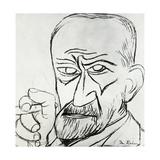 Sigmund Freud, Austrian Psychologist Giclée-Druck