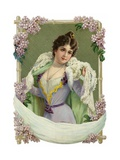 Decoration Featuring a Portrait of a Woman Giclee Print