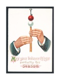 Christmas Card - May You Balance Things Perfectly This Season Giclee Print