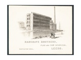 Hargrave Brothers, Flax and Tow Spinners, Trade Card Giclee Print