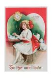 American Valentine Card Giclee Print by Ellen Hattie Clapsaddle