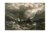 Storm in the Haslithal, Bernese Oberland Giclee Print by Alexandre Calame