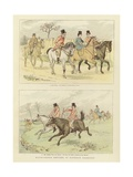 Equestrian Watercolour Sketches Giclee Print by Randolph Caldecott