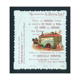 Horse-Drawn Removal Truck, Christmas/New Year Card Giclee Print