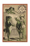 Frogs Getting Married at the Station Giclee Print