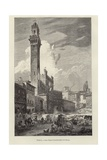 The Town Hall of Siena Giclee Print by Gustave Bauernfeind