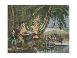 La Peche, Fishing Giclee Print by Achille Deveria